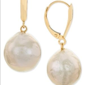 Jewelry - Cultured Champagne Ming Pearl 14K Gold Earrings